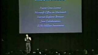 Macworld Boston 1997-The Microsoft Deal