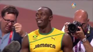 Usain Bolt and Jamaica, current world record at 4x100m relay 36.84, London Olympics 2012