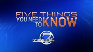 5 Things You Need To Know -- Monday 10/10