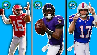 Madden 22 QB Ratings... 🤔