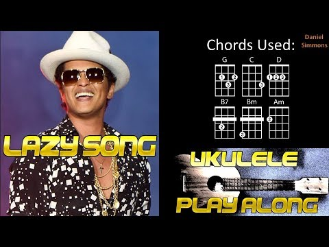 The Lazy Song - Ukulele Play Along / Chord Guide