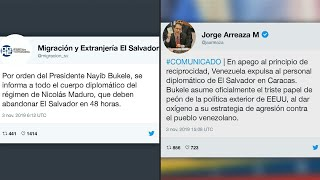 Venezuela y El Salvador expulsan mutuamente a diplomáticos por desconocimiento a Maduro | AFP