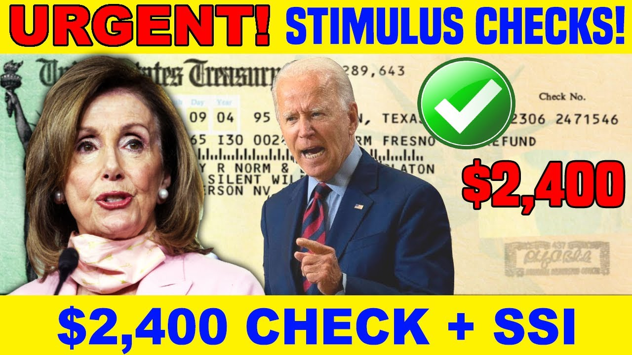 Download $2,400 BACKPAY!! Social Security Benefits 2021 (SSI SSDI SSA) + 3RD STIMULUS CHECK UPDATE