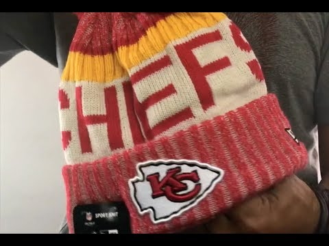 0ee05ad4a1e Chiefs  2017 STADIUM BEANIE  Red Knit Hat by New Era - YouTube