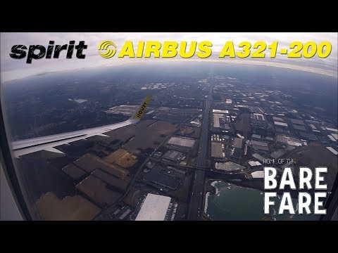 spirit-airlines-airbus-a321-200-ils-4r-approach-and-landing-at-newark-liberty-int'l-airport