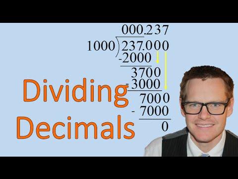 Dividing with Decimals (Simplifying Math)