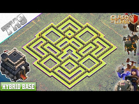 NEW BEST! TH9 Base 2020 With COPY LINK | TH9 Hybrid Base - Clash Of Clans