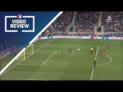 FIRST video review in MLS history