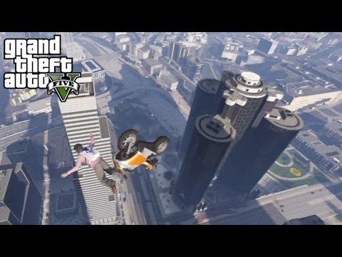 Bank Bailout - GTA V Parachute Jump (HD)