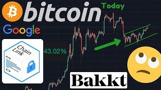 BITCOIN TO $9,000 Or Bear Flag?? | CHAINLINK PUMPING ON GOOGLE NEWS!!!! | Bakkt Test Launch Date