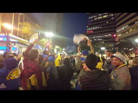 Part 3 video of the Warriors Celebration in downtown Oakland 2017.