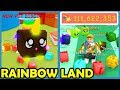 New Update! Rainbow Land! New Rainbow Island! 100M Stars - Roblox Bubble Gum Simulator