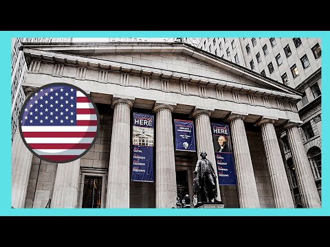 The historic Federal Hall National Memorial, Wall Street, New York City