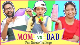 Funny Games Challenge - ft. MOM & DAD | #Fun #Parents #Crazy #CookWithNisha #MyMissAnand