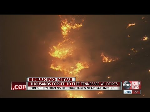 Wildfires in Eastern Tennessee bringing us devastating images