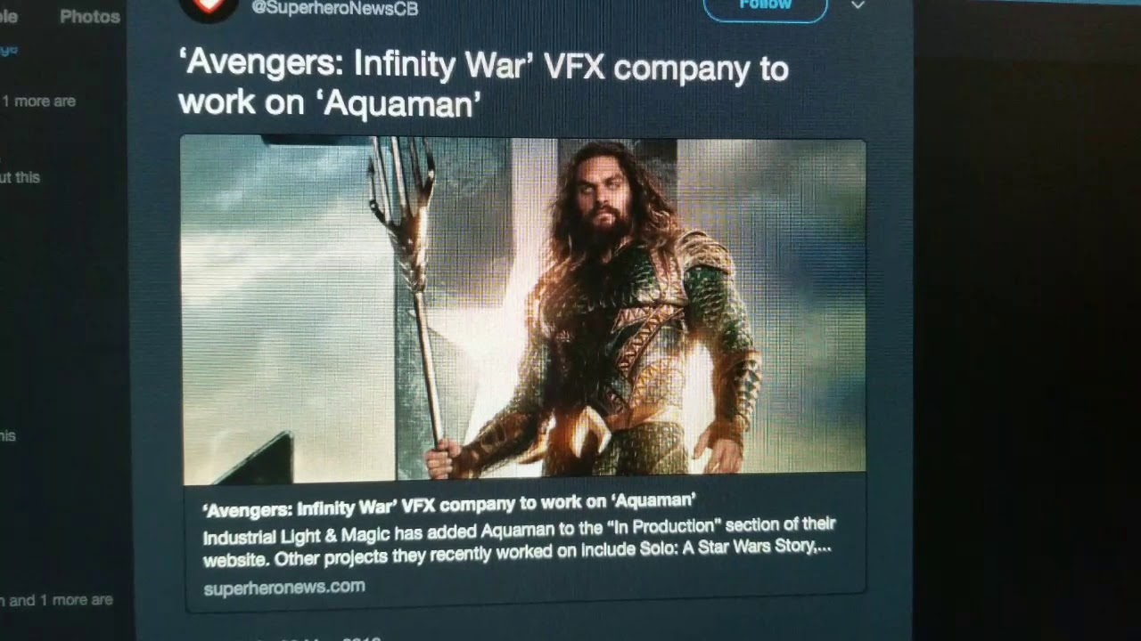 Aquaman VFX are Being Done by ILM but Headlines