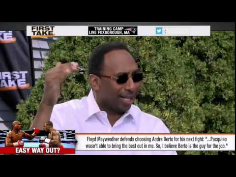 ESPN First Take (8/7/15): Floyd Mayweather Defends Andre Berto Pick For Final Fight