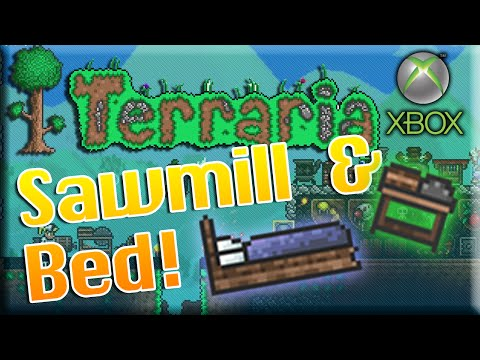 Terraria Xbox How To Craft Sawmill And Bed Set