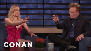 Sophie Turner Teaches Conan Jean Grey's Hand Motions - CONAN on TBS
