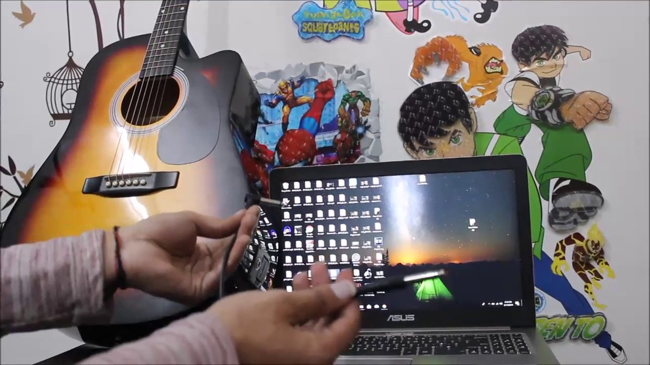 how to connect guitar to laptop
