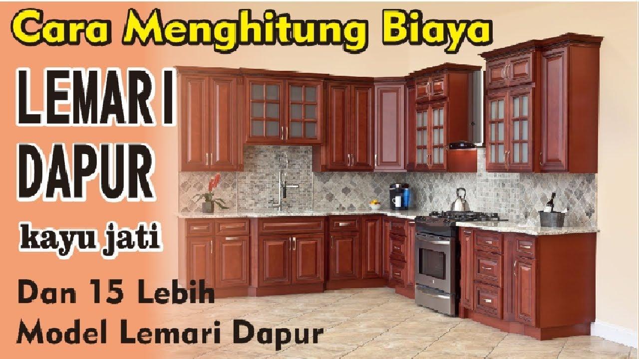 15 Model Lemari Dapur Kayu Jati Cara