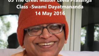 05 Sri Ramakrishna Leela Prasanga The Great Master class 14 May 2016