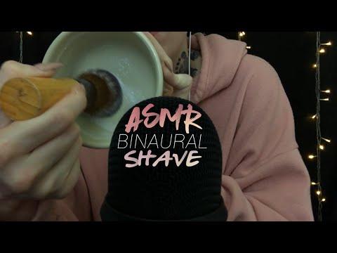 ASMR BINAURAL SHAVE (Powder To Cream)