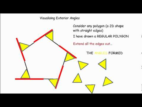 Exterior angles made simple gcse maths revision youtube - Total exterior angles of a polygon ...