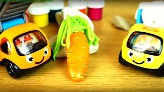 Поделки для детей: Рисуем на камнях морковку