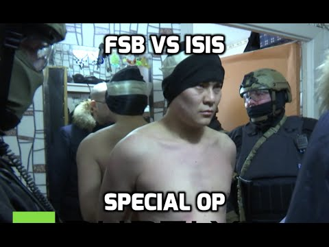 Gang forging passports for ISIS busted near Moscow, 14 detained (FSB special op footage)
