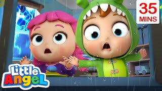 Storm Storm Go Away + More Nursery Rhymes and Kids Songs | Little Angel