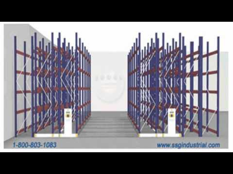 Mobile Pallet Rack Shelving Systems For Warehouse