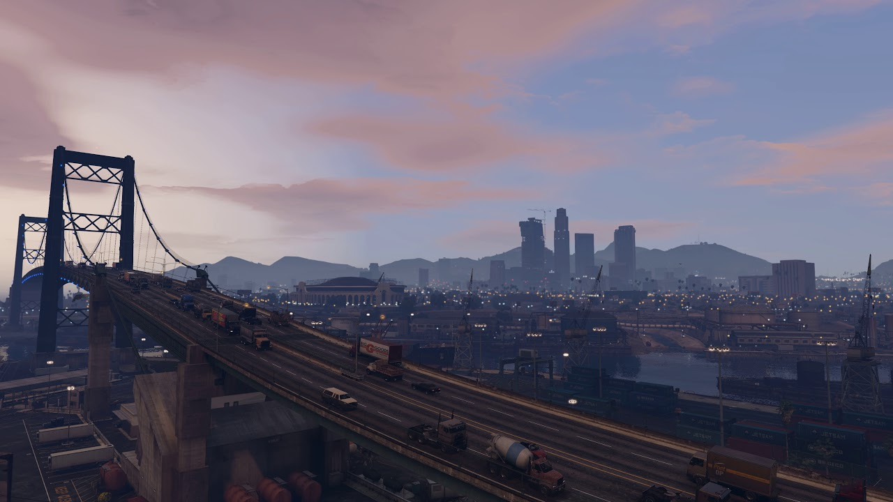 GTA 5 live wallpaper with city sounds (4K UHD GTA V time lapse)