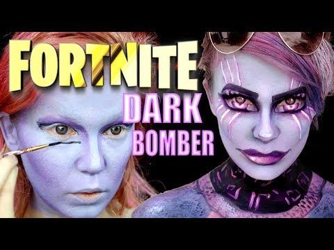 Fortnite Cosplay - Dark Bomber Transformation Makeup Tutorial