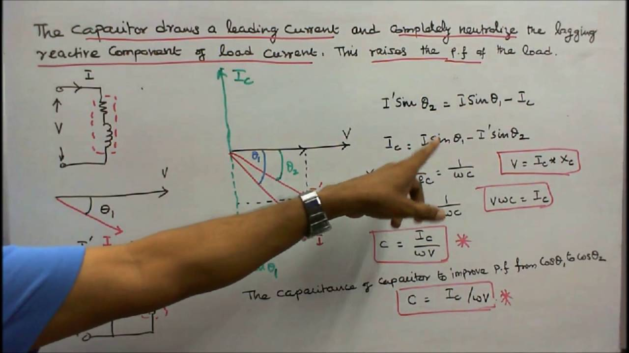 A C Fundamentals Part 11 Role Of Capacitor In Power Factor Capacitors Improvement