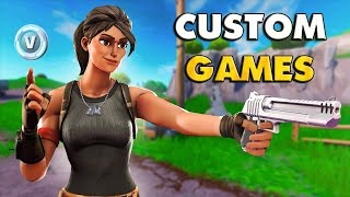 CUSTOM GAMES WITH PRIZE MONEY| SKINS GIFT| Fortnite Live|! Cc