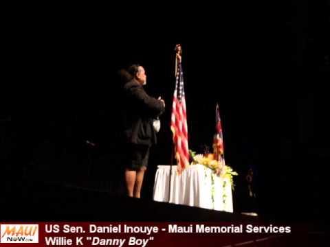 """Inouye Maui Memorial: Willie K """"Danny Boy"""""""