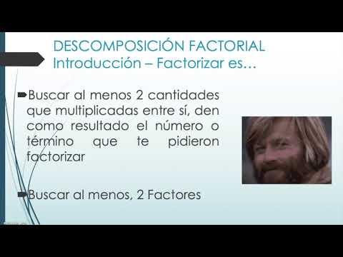 Descomposición Factorial o Factorización from YouTube · Duration:  3 minutes 56 seconds
