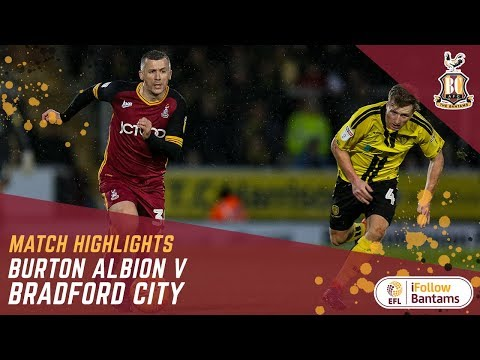 MATCH HIGHLIGHTS: Burton Albion 1-1 Bradford City