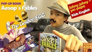 kids english 이솝우화 1편-거위가 황금알을 낳았다. 이솝우화 황금알을 낳는 거위. The Golden Egg l Aesop's Fables