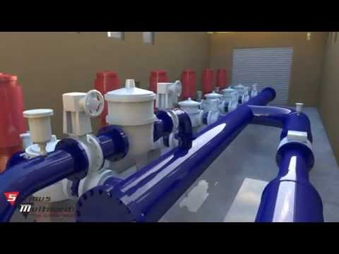 Water Pump Station 3D Animation Presentation