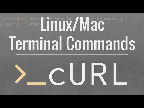 Linux/Mac Terminal Tutorial: How To Use The cURL Command - YouTube