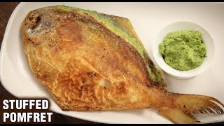 Stuffed Pomfret | Paplet Fry | How To Make Stuffed Pomfret Fry | Seafood | Fish Recipe By Varun