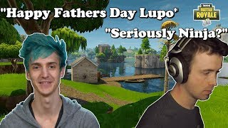 Ninja Trolls DrLupo With Fathers Day Gift?!   Fortnite Funny and WTF Moments