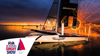 Tiger Whisper Foiling Catamaran at the RYA Suzuki Dinghy Show 2017