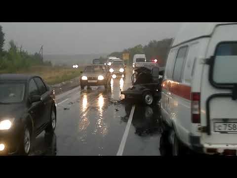 Авария на Острогожской трассе перед солдатским.