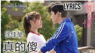 徐佳莹 (Lala Hsu) - 真的傻 (Zhen De Sha) Lyrics Pinyin