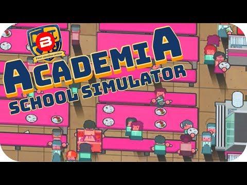 Academia - GIANT CAFETERIA !!! - Academia School Simulator Gameplay #6