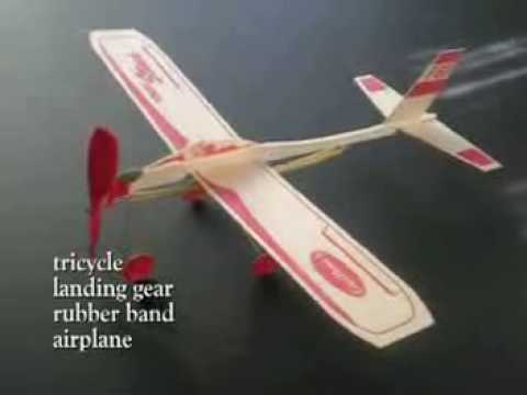 Tricycle Landing Gear Rubber Band Airplane Youtube