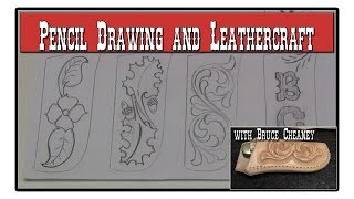 Knife Sheath Making Part 5 Pencil Drawing Tutorial - Leather Designs